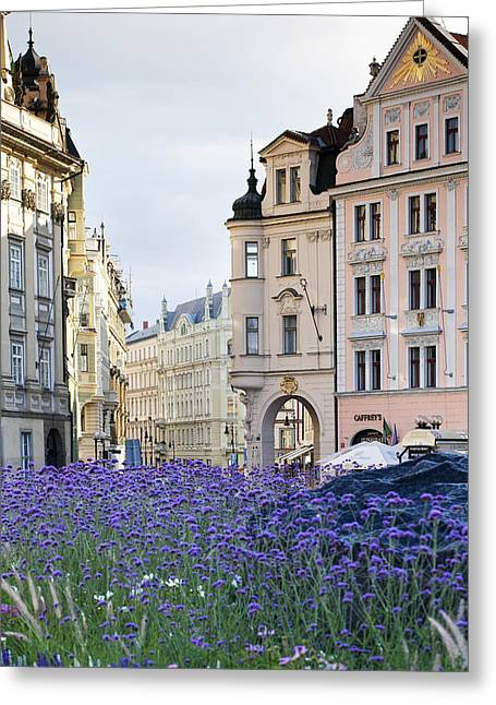 Streets Of Prague Greeting Card by Andre Goncalves