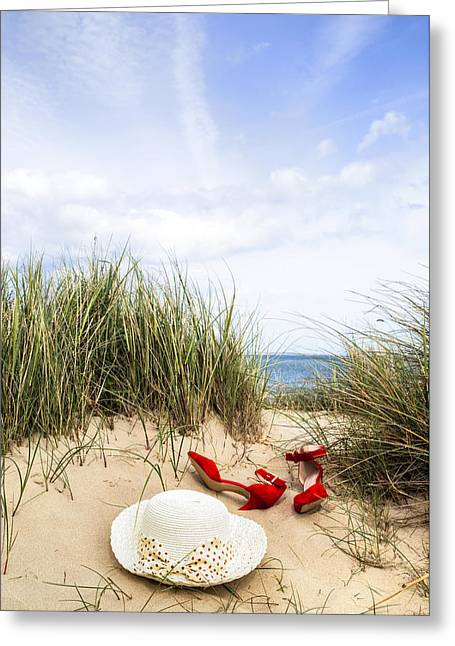 Coastal Dunes Greeting Cards - Summer At The Sea Greeting Card by Joana Kruse