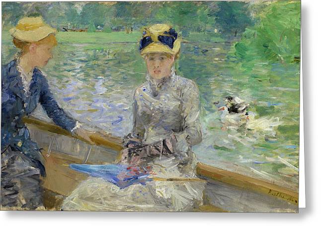 Impressionist Greeting Cards - Summers Day Greeting Card by Berthe Morisot