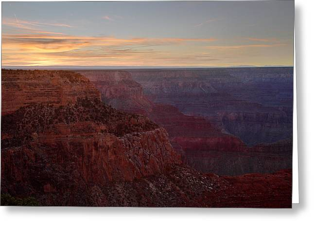 The Grand Canyon Greeting Cards - Sunset at the Grand Canyon Greeting Card by Pierre Leclerc Photography