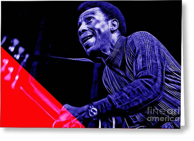 Electric Greeting Cards - T Bone Walker Collection Greeting Card by Marvin Blaine
