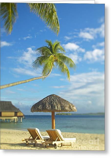 Overhang Greeting Cards - Tahiti, Bora Bora Greeting Card by Kyle Rothenborg - Printscapes