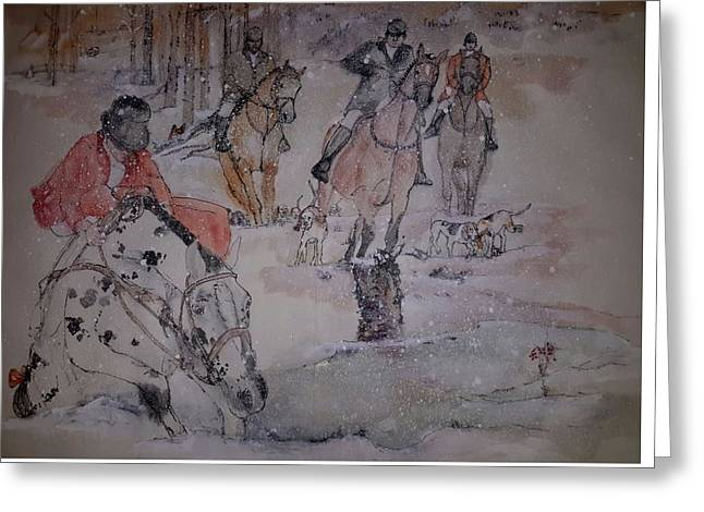 Foxhunting Greeting Cards - Talley Ho  album  Greeting Card by Debbi Chan