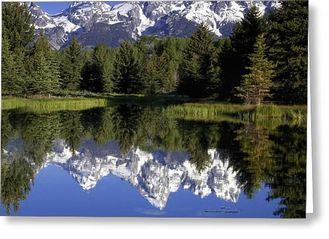 Teton Reflections Greeting Card by Andrew Soundarajan