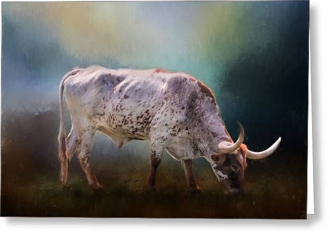 Steer Greeting Cards - Texas Longhorn Greeting Card by David and Carol Kelly