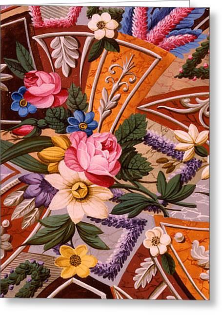 Cushion Greeting Cards - Textile design Greeting Card by William Kilburn