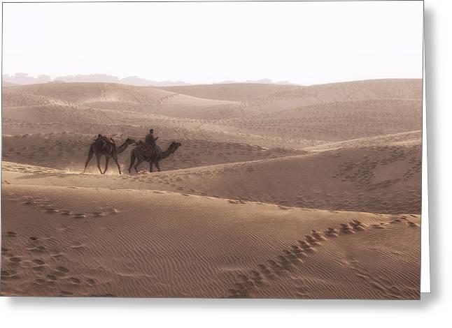 Thar Desert - India Greeting Card by Joana Kruse