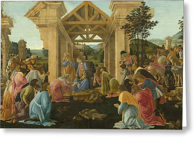The Adoration Of The Magi Greeting Card by Mountain Dreams
