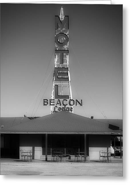 Black Lodge Photographs Greeting Cards - The Beacon Lodge Motel Greeting Card by Mountain Dreams