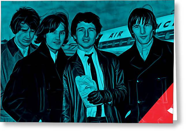 Rock N Roll Mixed Media Greeting Cards - The Kinks Collection Greeting Card by Marvin Blaine