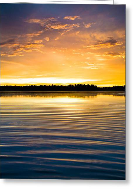 Lake House Greeting Cards - The Last Light Greeting Card by Parker Cunningham