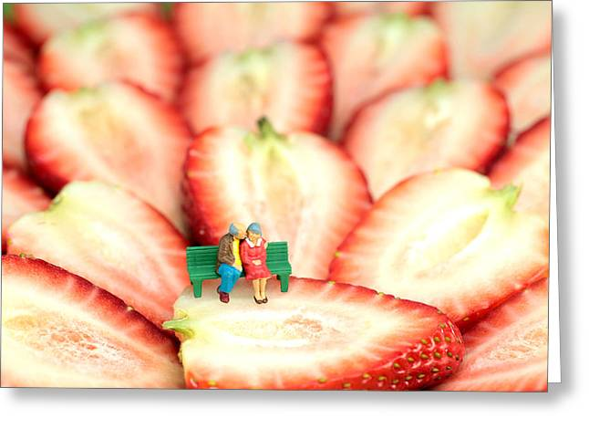 Mimic Greeting Cards - The Lovers in Valentines Day Greeting Card by Paul Ge