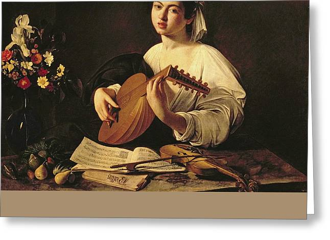 The Lute Player Greeting Card by Caravaggio