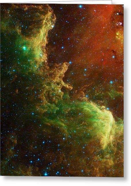 The North America Nebula Greeting Card by American School