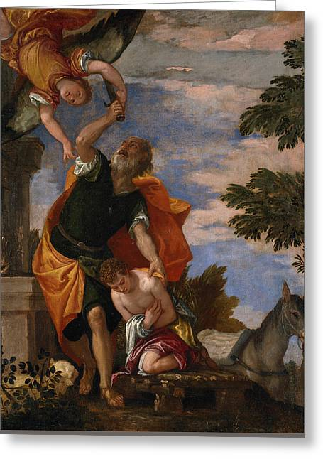 The Sacrifice Of Isaac Greeting Card by Paolo Veronese