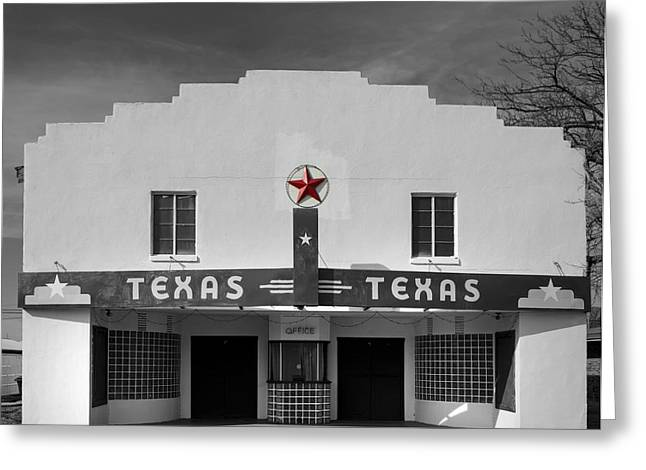 The Texas Theatre Of Bronte Texas Greeting Card by Mountain Dreams