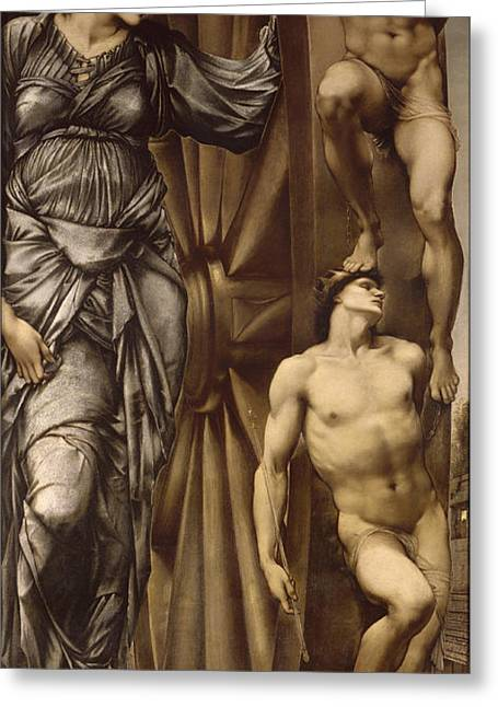 Cycle Of Life Greeting Cards - The Wheel of Fortune Greeting Card by Edward Burne-Jones