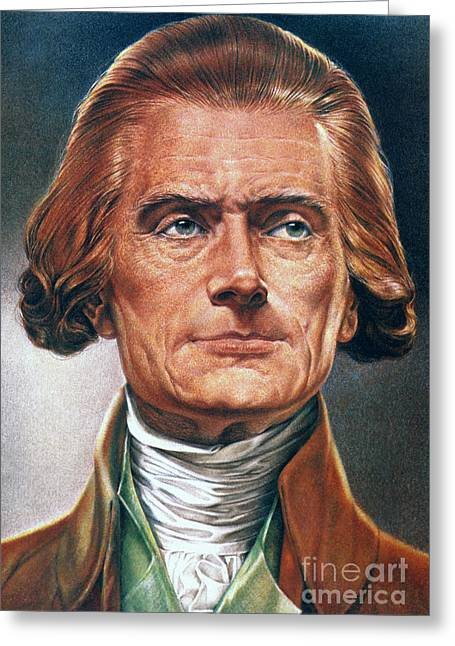 Democratic Republican Greeting Cards - Thomas Jefferson (1743-1826) Greeting Card by Granger