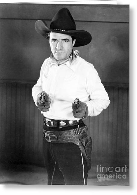 Holster Greeting Cards - Tom Mix (1880-1944) Greeting Card by Granger