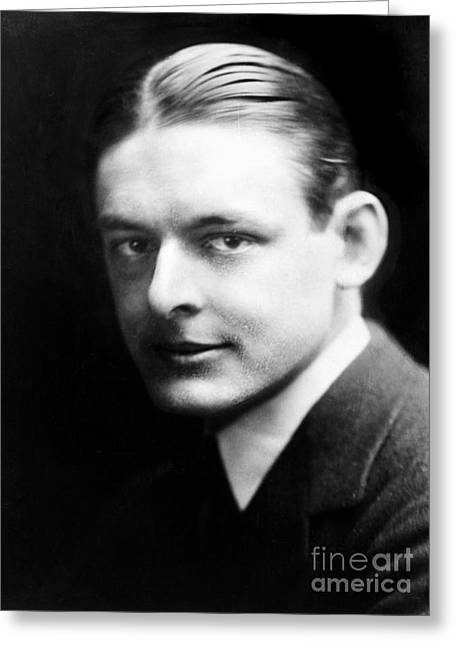 Nobel Prize Laureate Greeting Cards - T.s. Eliot (1888-1965) Greeting Card by Granger