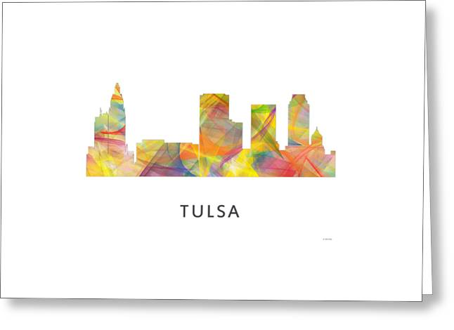 Tulsa Oklahoma. Architecture Greeting Cards - Tulsa Oklahoma Skyline Greeting Card by Marlene Watson