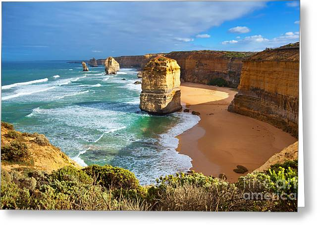 Etch Greeting Cards - Twelve Apostles Great Ocean Road Greeting Card by Bill  Robinson