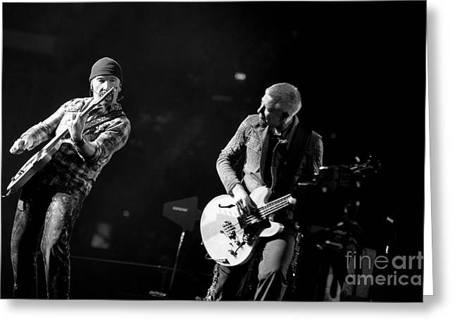 U2 Photographs Greeting Cards - U2 Greeting Card by Jenny Potter
