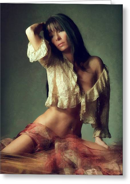 Gypsy Greeting Cards - Unchained Heart Greeting Card by Naman Imagery