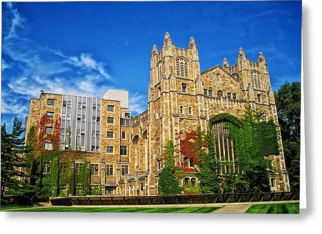 University Of Michigan Greeting Cards - University Of Michigan School Of Law Greeting Card by Andrew Horne