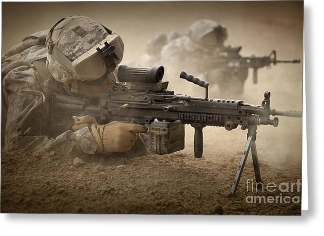 Combat Uniforms Greeting Cards - U.s. Army Ranger In Afghanistan Combat Greeting Card by Tom Weber