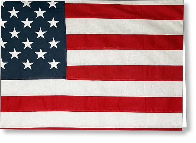 Democracy Photographs Greeting Cards - U.S. flag Greeting Card by Les Cunliffe