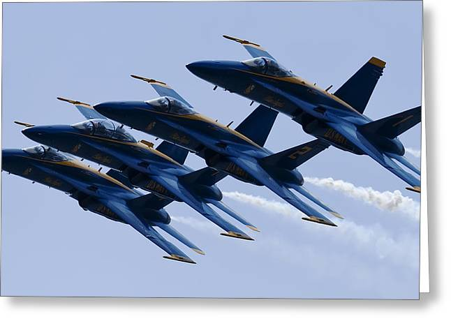 Us Navy Blue Angels Poster Greeting Card by Dustin K Ryan