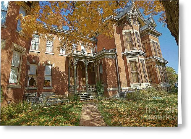 Liane Wright Greeting Cards - Vaile Mansion Greeting Card by Liane Wright