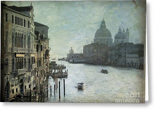 City Canal Greeting Cards - Venice Greeting Card by Bernard Jaubert