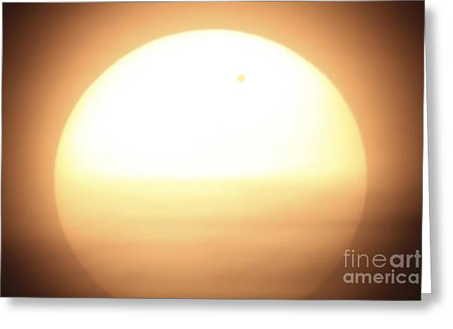 Venus Transit Greeting Cards - Venus Transiting In Front Of The Sun Greeting Card by Fahad Sulehria