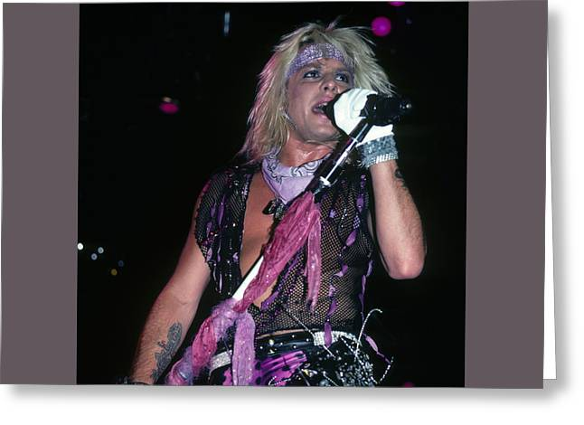 Vince Neil Of Motley Crue Greeting Card by Rich Fuscia