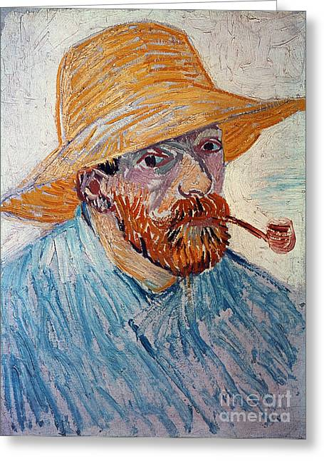 Self-portrait Photographs Greeting Cards - Vincent Van Gogh Greeting Card by Granger
