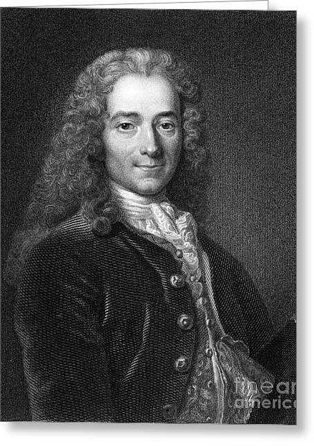 Henry Brougham Greeting Cards - Voltaire, French Author Greeting Card by Middle Temple Library