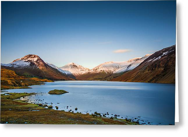 Geographic Location Greeting Cards - Wast Water Lake. Greeting Card by Daniel Kay