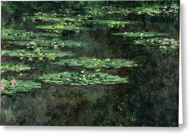 Pond Gardens Greeting Cards - Waterlilies Greeting Card by Claude Monet