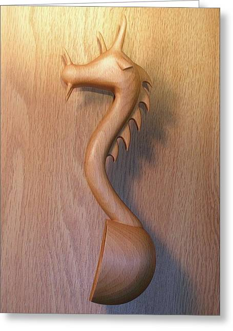 Carved Sculptures Greeting Cards - Welsh Spoon Greeting Card by Jack Harries