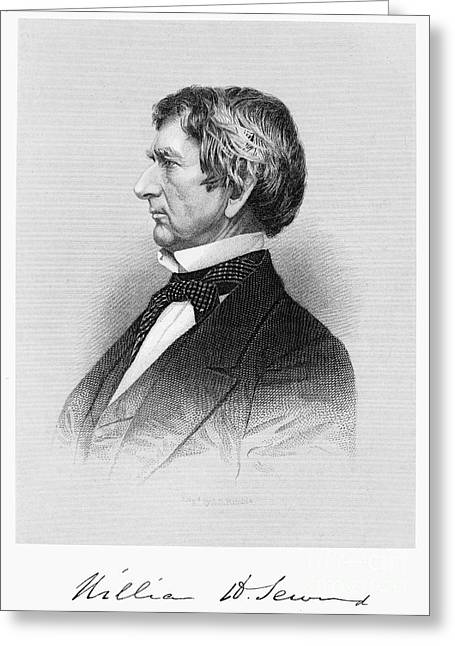Statesman Greeting Cards - William Seward (1801-1872) Greeting Card by Granger
