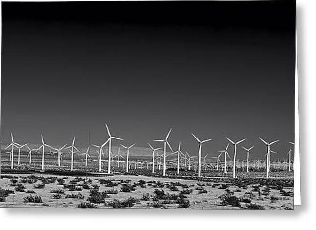 Power Plants Greeting Cards - Wind Turbines In The Mojave Desert Greeting Card by Mountain Dreams