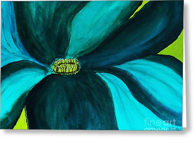 Windmill Flower Greeting Card by Marsha Heiken