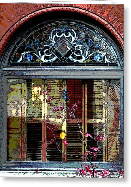 Digital Photo Greeting Cards - Window Series Greeting Card by Ginger Geftakys