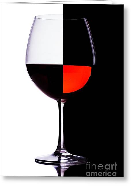 Menu Greeting Cards - Wine Greeting Card by Bahadir Yeniceri