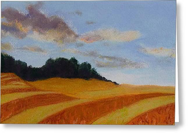 Field. Cloud Pastels Greeting Cards - Wonderland Farm Greeting Card by Lucinda  Hansen