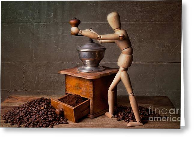 Espresso Greeting Cards - Working the Mill Greeting Card by Nailia Schwarz