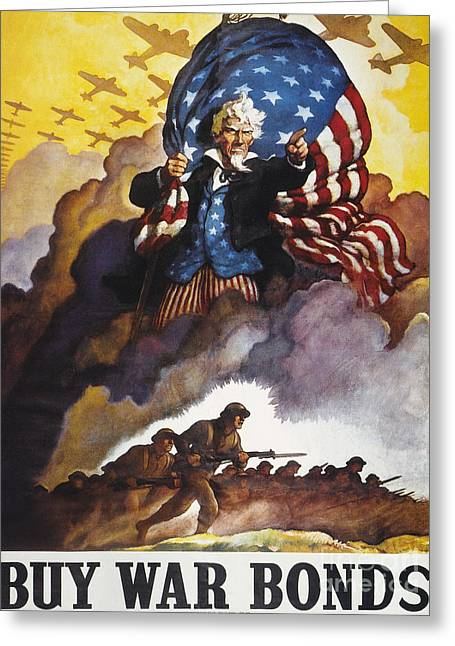 N.c. Greeting Cards - World War Ii Bond Poster Greeting Card by Granger