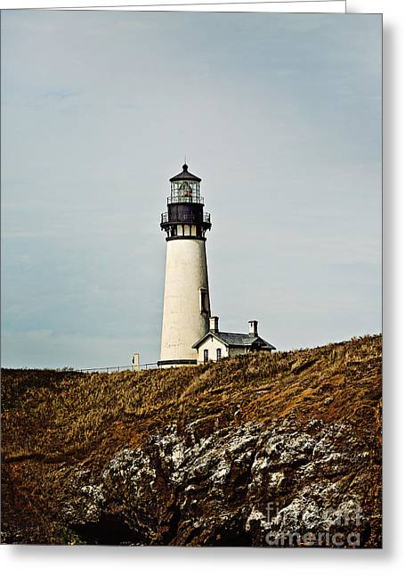 Yaquina Head Lighthouse Greeting Card by Scott Pellegrin